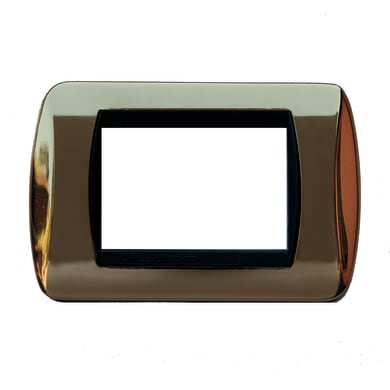 Placca CAL 3 moduli oro compatibile con living international