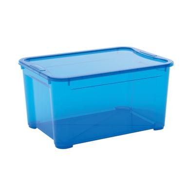 Contenitore T-box L 55.5 x H 28.5 x P 39 cm azzurro