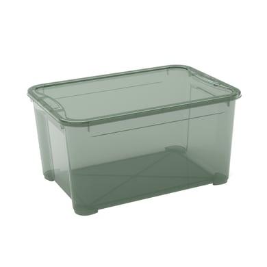 Contenitore T-box L 55.5 x H 28.5 x P 39 cm verde