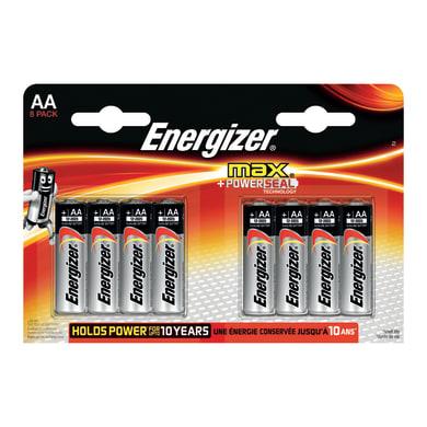 Pila alcalina AA ENERGIZER MAX 8 batterie