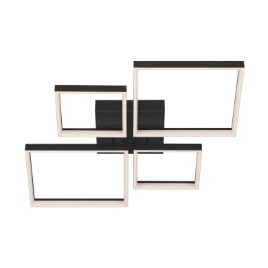 Plafoniera moderno Frames LED integrato nero66x66 cm,