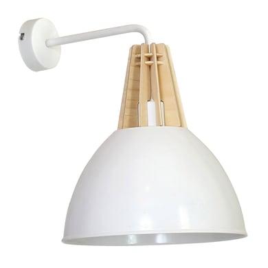 Applique scandinavo Virgo bianco, in legno,  D. 24 cm 24 cm,