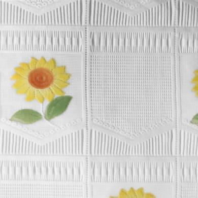 Tessuto al taglio Margherita giallo 53 cm