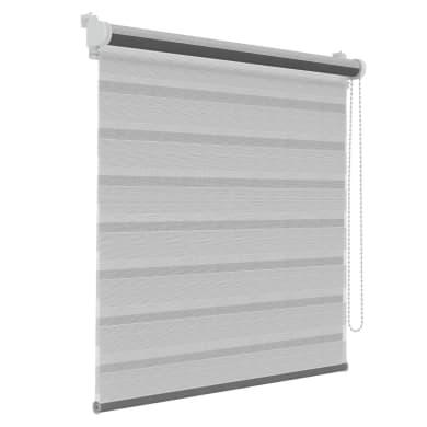 Tenda a rullo Orleans grigio / bianco 124x190 cm