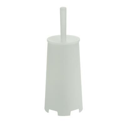 Porta scopino wc da appoggio Oscar in resina termoplastica bianco