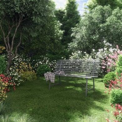 Panca da giardino senza cuscino 3 posti in acciaio Park colore antracite