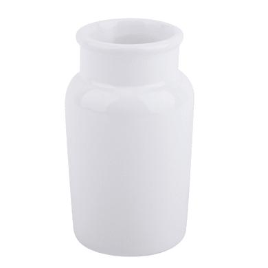Bicchiere porta spazzolini Pandora in ceramica bianco