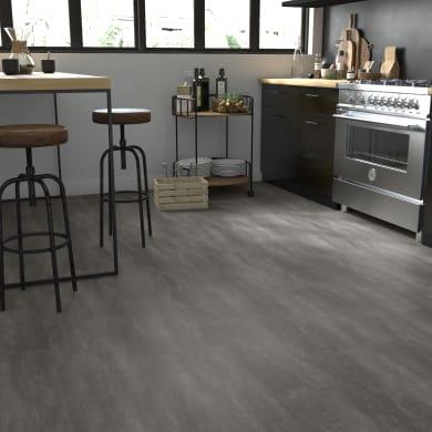 Pavimento PVC incastro Tolu Sp 4 mm grigio / argento