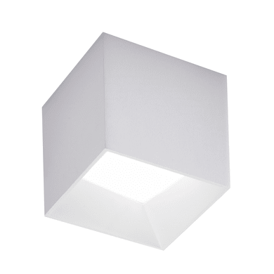Plafoniera design Cube LED integrato bianco10.5x10.5 cm,