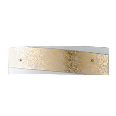 Applique glamour Paris oro, in vetro, 12x45 cm, 2 luci