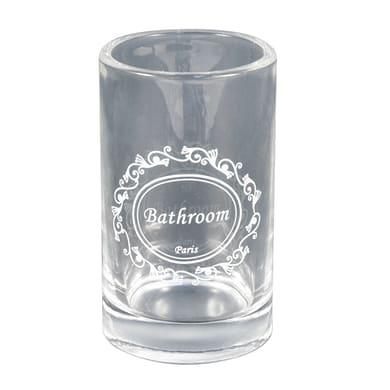 Bicchiere porta spazzolini Paris in vetro trasparente