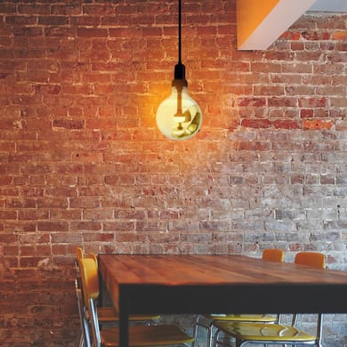 Lampadina decorativa LED filamento, Move Me, E27, Globo, Trasparente, Luce calda, 5.5W=450LM (equiv 5,5 W), 320° , ON