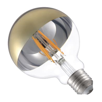 Lampadina LED E27, Globo, Oro, Bianco caldo, 5.5W=600LM (equiv 48 W), 360° , LEXMAN