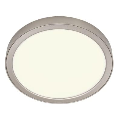 Faretto fisso da incasso tondo Manoa nichel, diam. 22.8 cm LED integrato 15.3W 2660LM IP44 INSPIRE
