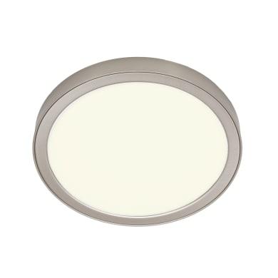 Faretto fisso da incasso tondo Manoa nichel, diam. 17.3 cm LED integrato 10.1W 1660LM IP44 INSPIRE