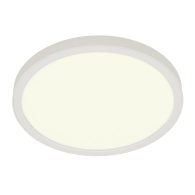 Faretto fisso da incasso tondo Manoa bianco, diam. 17 cm LED integrato 15.3W 2660LM IP44 INSPIRE