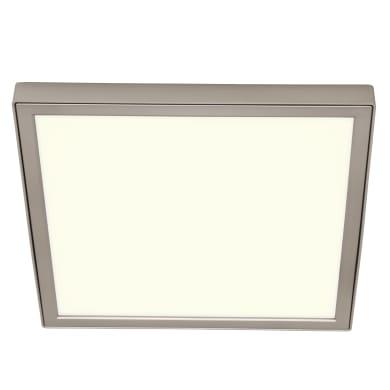 Faretto fisso da incasso quadrato Manoa nichel, 22x22cm LED integrato 15.3W 2660LM IP44 INSPIRE