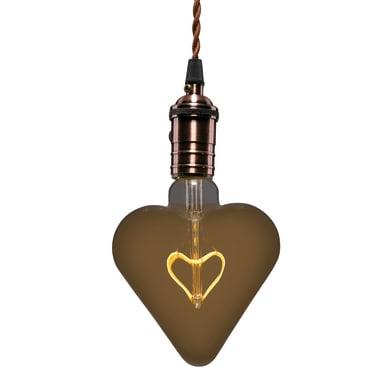 Lampadina Filamento LED E27 cuore bianco caldo 2.5W = 150LM (equiv 14W) 360° LEXMAN
