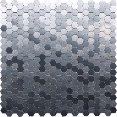 Mosaico Tara Silver H 30.5 x L 30.5 cm grigio