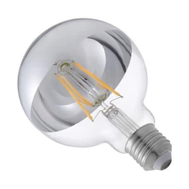 Lampadina LED E27, Globo, Argentato, Bianco caldo, 2.8W=600LM (equiv 48 W), 360° , LEXMAN