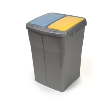 Pattumiera Duobin MULTIM manuale grigio cop colorato arancio-verde 45 L
