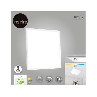 Pannello led Anvik 59.5x59.5 cm bianco naturale, 4000LM INSPIRE