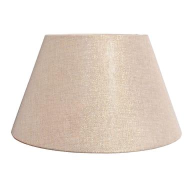 Paralume per lampada da tavolo personalizzabile  Ø 40 cm tortora e oro in teletta