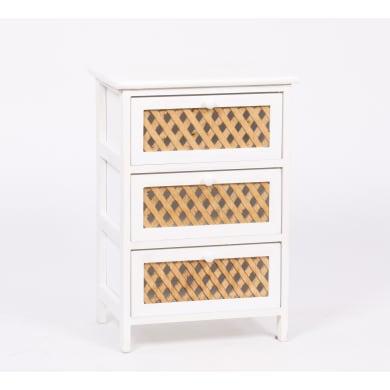 Cassettiera Xena 3 cassetti L 40 x P 58 x H 29 cm bianco