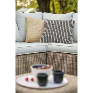 Set tavolo e sedie NATERIAL in rattan sintetico beige 7 posti