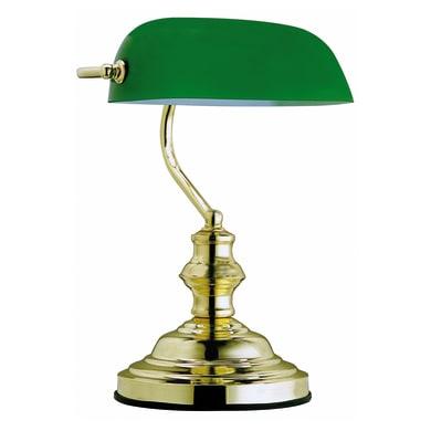 Lampada da scrivania Antique verde, in vetro, E27 MAX60W