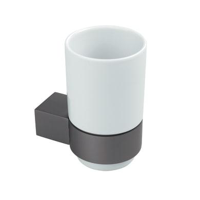 Bicchiere porta spazzolini Oslo in ceramica bianco