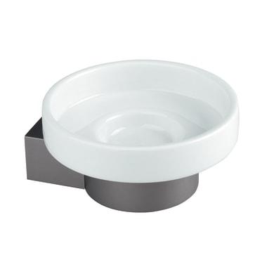 Porta sapone Oslo bianco e grigio