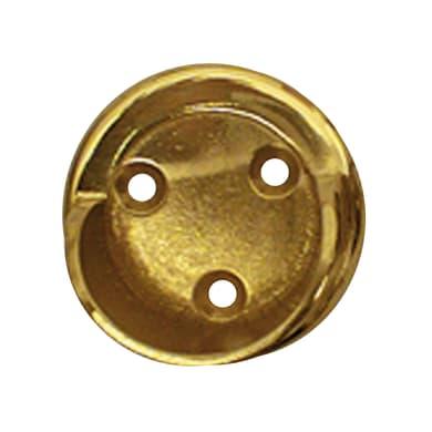 Supporto rosetta Ø20mm Volga in metallo ottone lucido 3cm