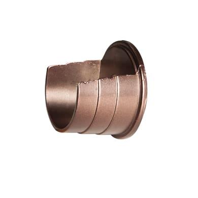 Supporto singolo aperto Ø28mm Tarim in metallo oro satinato