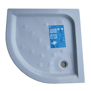 Piatto doccia ceramica Julieta 90 x 90 cm bianco