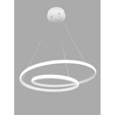 Lampadario Contemporaneo Malena LED integrato bianco, in alluminio, D. 60 cm