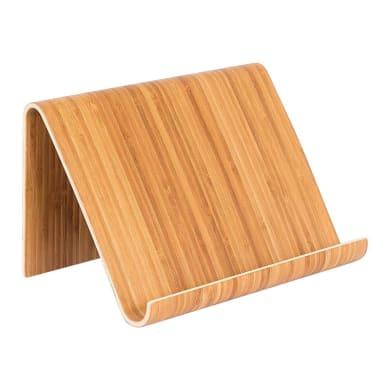 Supporto per pc e tablet L 26 x H 16.5 x P 16.5 cm in bambù
