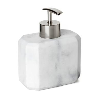 Dispenser Dosasapone marble effetto marmo bianco