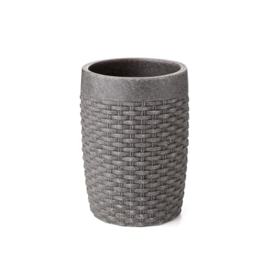 Bicchiere porta spazzolini Bicchiere nest grigio in poliresina grigio antracite