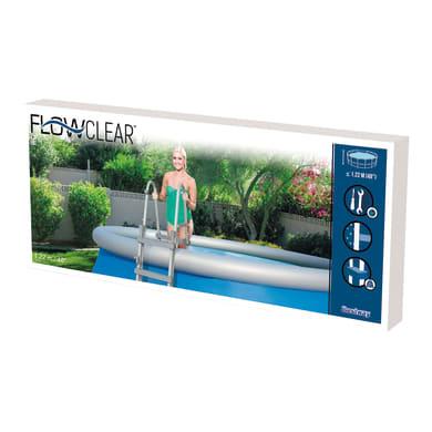 Scaletta per piscina fuori terra in alluminio Bestway 4 gradini 122 cm