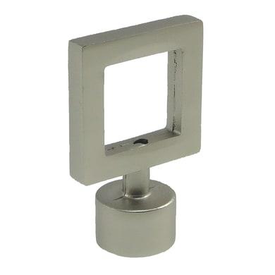 Finale per bastone Stelvio quadrato in metallo Ø16mm grigio satinato INSPIRE