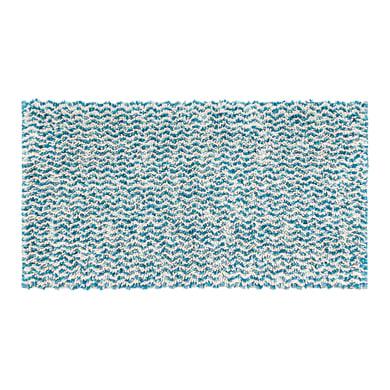 Tappeto bagno rettangolare Speed55x80t in 100% cotone azzurro