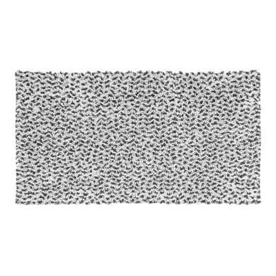 Tappeto bagno rettangolare Speed55x80g in 100% cotone grigio