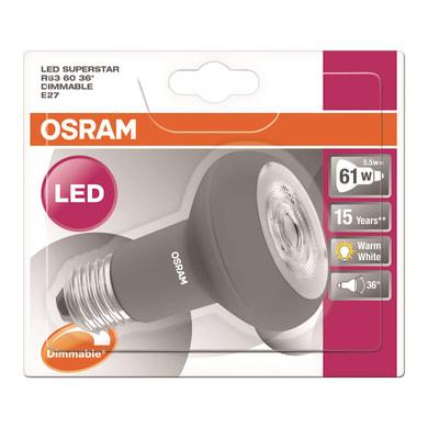 Lampadina LED, E27, Faretto, Opaco, Luce calda, 5.5W=400LM (equiv 68 W), 36° , OSRAM
