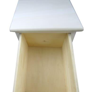 Cassettiera 4 cassetti L 26 x P 30 x H 75 cm bianco