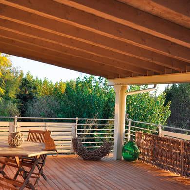 Piastrelle ad incastro PIASTRELLA THERMOWOOD 40X40 in legno pino scandinavo 39 x 39 cm Sp 2.5 mm,  marrone chiaro