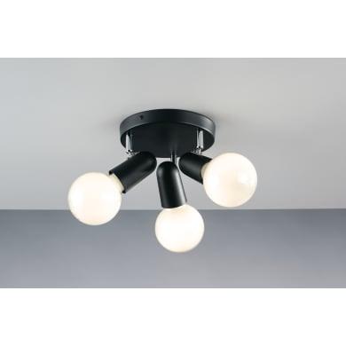Applique a soffitto SPOT-PUNTO-PL3 NER  in alluminio, nero, 40W NOLM IP20