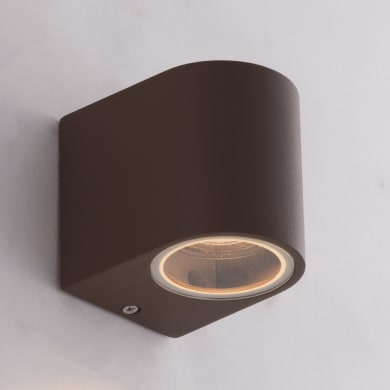 Applique Onein alluminio, corten, GU10 MAX35W IP54