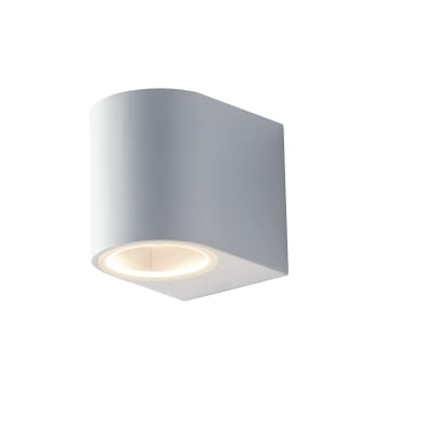 Applique Onein alluminio, bianco, GU10 2xMAX35W IP54