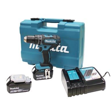 Trapano a percussione a batteria MAKITA DHP482RFX1 18 V, 3 Ah, 2 batterie
